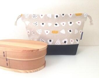 Back to School Onigiri Bento bag / lunch bag
