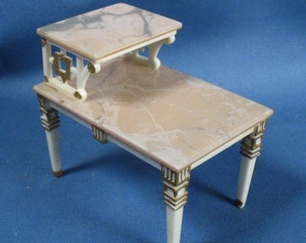 Vintage Ideal Petite Princess Dollhouse Two Tier End Table
