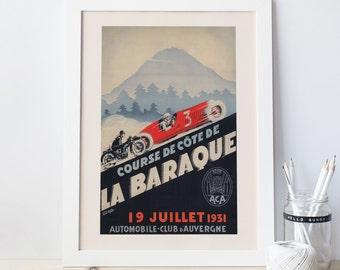 Vintage Print Art Deco Poster Giclee Print AUTO RACING FRANCE Vintage Car Ad Car Print Grand Prix Poster Art Print Formula 1 Poster Ribba