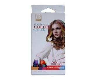 Hair Chalk 12pce DYI Temporary Hair Colour Dye The Latest Thing Out