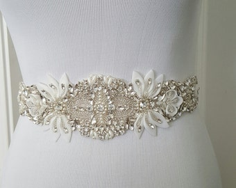 Wedding Belt, Bridal Belt, Sash Belt, Crystal Rhinestone, Style 186
