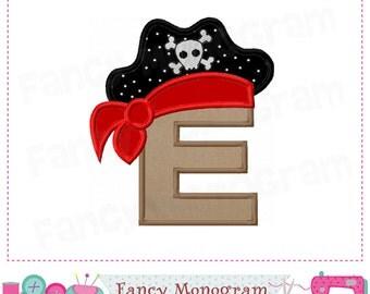 Pirtae Monogram E applique,Pirate Letter E applique,E,Birthday Letter E applique,Pirate applique,Pirate design,Pirate,Font e.-01