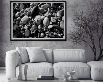 Stones, fine art photography, digital download, high-resolution, black/white