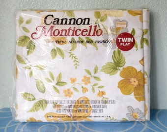 Twin Flat Vintage Cannon Monticello Sheet