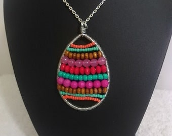Brazil Style Egg Shape Pendant Necklace.