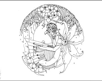 Mother Earth Adult Coloring Page Book Color