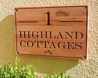 House number sign/cottage sign/address sign/custom house plaque/house warming/estate plaque/house name sign/carved sign/wood house number