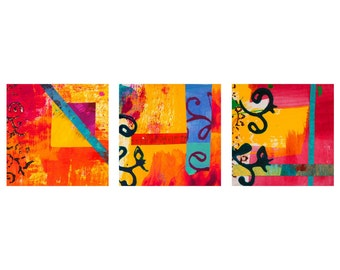 All That Jazz Triptych Wall Art (Set of 3)
