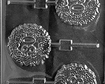80th Lolly Chocolate Candy Mold with Exclusive FlavorTools Copyrighted Chocolate Molding Instructions L036
