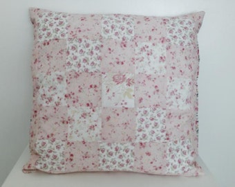 Pretty Floral Patchwork Pillow Cover and insert