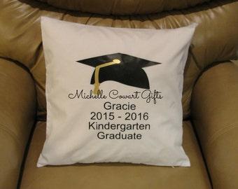 Graduation Pillow, Personalized Pillow, Autograph Pillow, School Graduation, Memory Pillow, Keepsake Pillow, Kindergarten, PreSchool, Senior