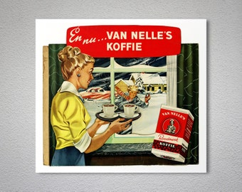 Van Nelle's Koffie Vintage Food & Drink Poster -  Poster Print, Sticker or Canvas Print / Gift Idea