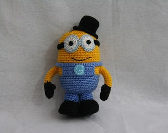 Crochet Hand made Minion toy With one eye and hat