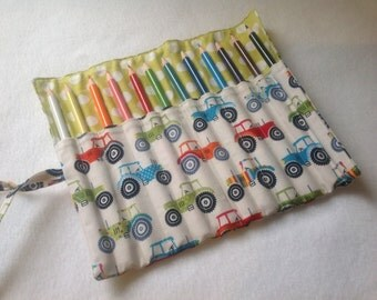 Tractor Pencil Roll