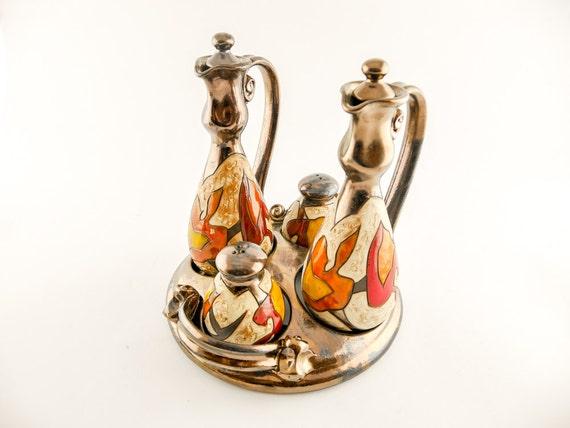 Autumn ceramic cruet set salt and pepper shaker by avanturine - Salt and pepper cruet set ...