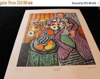 Christmas In July The Purple Robe by Henri Matisse Fine Art Lithograph