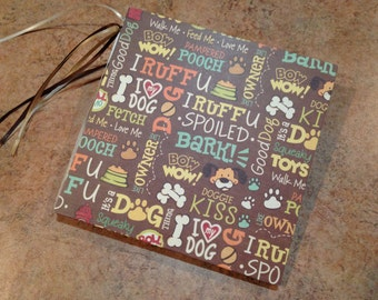 Adorable Dog/Puppy/Pet 7x7 Scrapbook, Handmade Photo Album