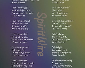 Perfectly Me Poem by Dan Coppersmith, Uplifting Poem & Photography, Empowering Poem