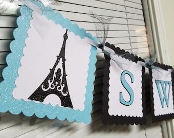 Paris sweet 16 banner, sweet 16 banner, sweet 16 party, Paris banner, paris centerpiece, sweet 16 centerpiece