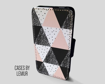 GEOMETRIC Iphone SE Wallet Case Leather Iphone SE Case Leather Iphone Se Flip Case Iphone Se Leather Wallet Case Iphone Se Leather Sleeve