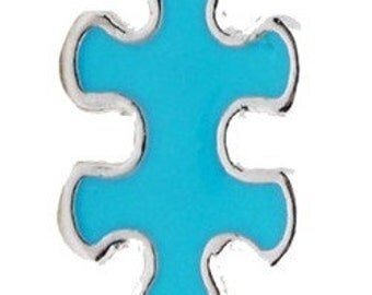 Blue Puzzle Piece Floating Charm