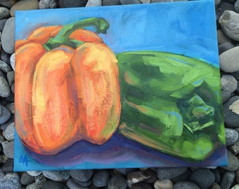 Bell Peppers - Original Oil Painting