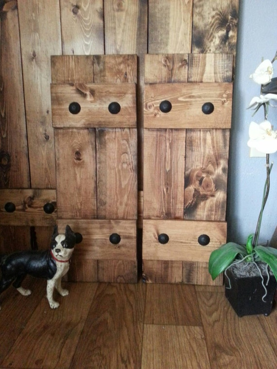 RUSTIC Wood Shutters with Clavos - Decorative Shutters - Primitive Shutters - Interior/Exterior - Wall Decor - Headboard - Wooden Shutters