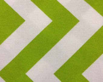 Half Moon Modern for Moda Half Yard Cut and Yardage Available Green  White Chevron  32349 21