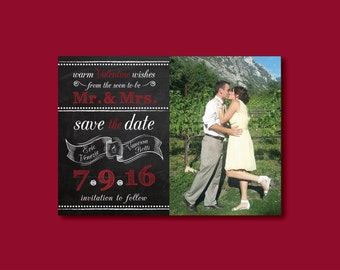 Valentines Save the Date • Save the Date • Valentines Day Wedding Save the Dates • Save the Date Valentines • Save the Date Valentines Card