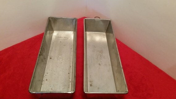 Vintage Extra Long Bread Pans Bake King 44 And Ekcoloy Silver