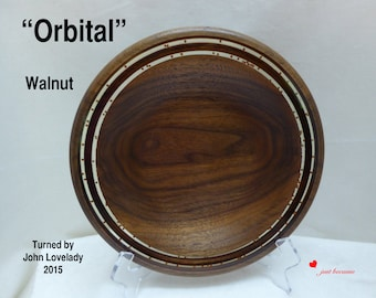 "Walnut platter ""Orbital""/home decor"
