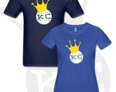 KC Crown Ball Men's and Women's Kansas City Royals KC Baseball T Shirt