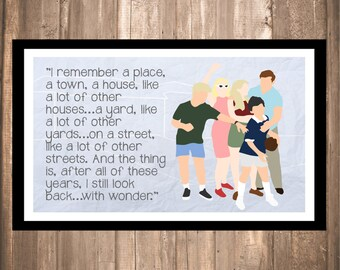 """INSTANT DOWNLOAD - Wonder Years """"I Remember"""" Print"""
