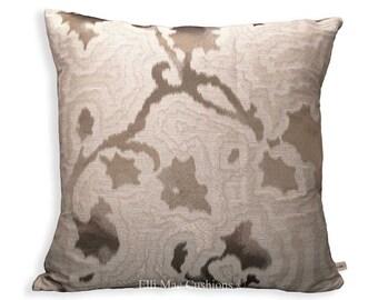 Sahco Mida Designer Taupe Contemporary Sofa Cushion Pillow Cover