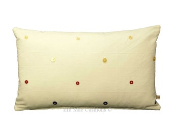 Throw Pillows With Big Buttons : Large pillow button Etsy