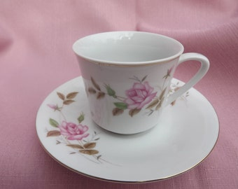 Vintage Cup and Saucer Made in Chna