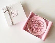 Incense Stick Holder - Incense Burner - Pink Pastel Ceramic