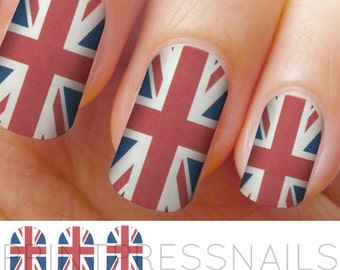 Union Jack, British Flag Nail Wraps, Nail Stickers, Nail Decals
