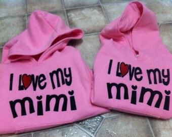 I love my MiMi or Grandma or I love my Nana
