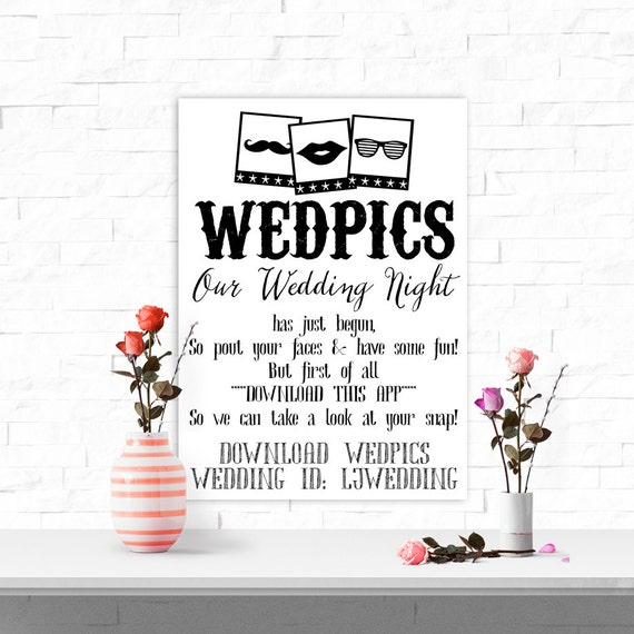 XXL Extra Large WedPics App Photo Booth Canvas Poster For