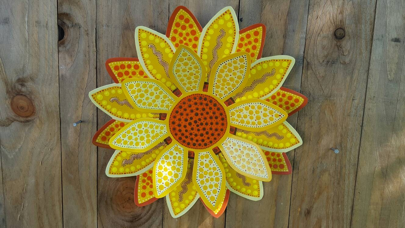 Metal Wall Flower Decoration, Girls Room Decoration, Flower Art ...