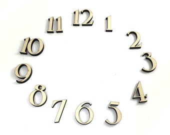 Lasercut Clock Numbers (Variable Size)