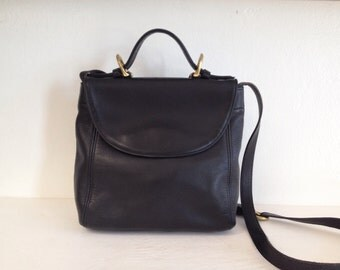 Coach Black Leather Crossbody Bag