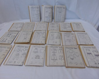 Lot of 21 Vintage Simplicity Uncut Sewing Patterns