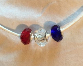 Patriotic Jewelry, Red, White and Blue, Military Pride, Ready to Ship, USA Pride, Army Wife, Marine Wife, Military Wife, Birthday Gift