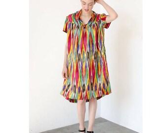 iggie ikat woven silk summer dress