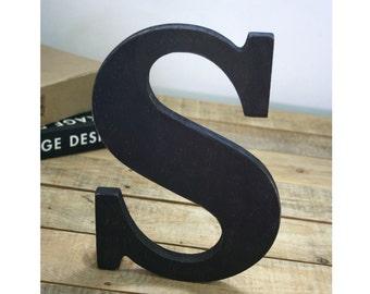 Wooden letter, freestanding wooden letter, shelf decor, wood letter, S wood letter, wall decor, home decor, Christmas Gift!