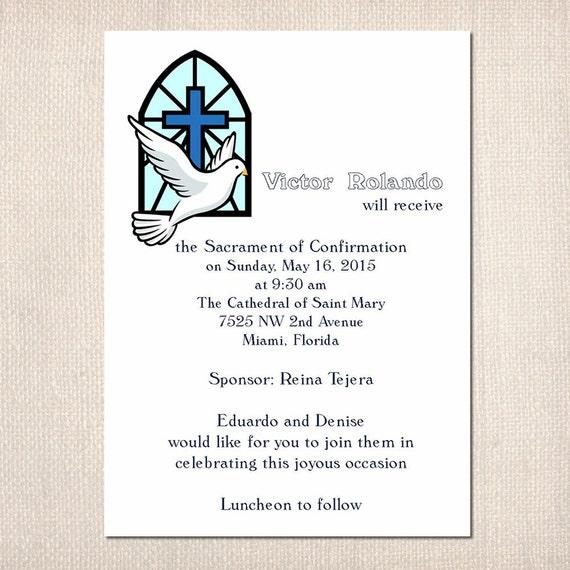 Matrimonio Catolico Sin Confirmacion : Artículos similares a confirmación invitaciones religiosas