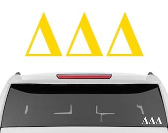 Tri Delta Decal    Delta Delta Delta Decal   Sorority Car Decals, Sorority Vinyl Decal, Sorority Laptop Decal, Sorority Decal