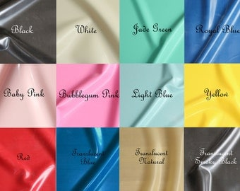 Sheet Latex/Rubber by Continuous Metre, Qtr or Half Metre - 1m Width, 0.40mm Gauge - Favourite Colours - UK SELLER